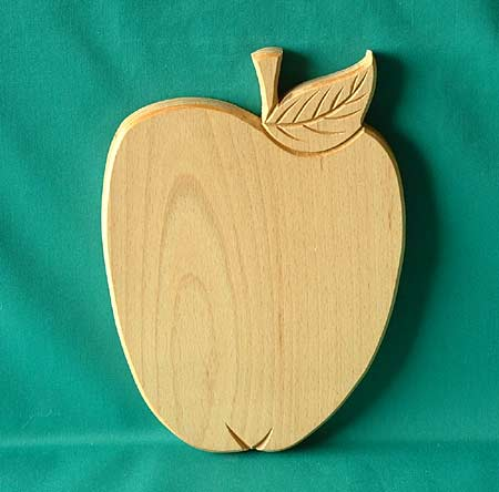Wooden handcarved fruit board - apple shaped