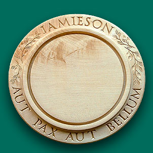 Clan Jamieson bread board