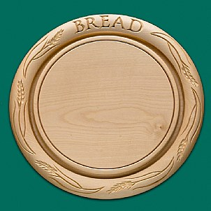 traditional breadboard with wheat decoration